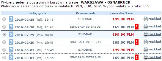 autobusy do osnabruck